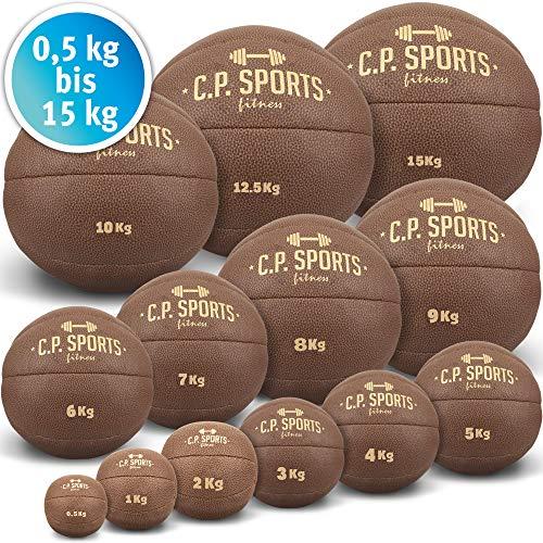 C.P.Sports K5 - Palla Medica Originale, in Pelle, 0,5 kg, 1 kg, 2 kg, 3 kg, 4 kg, 5 kg, 6 kg, 7 kg,...
