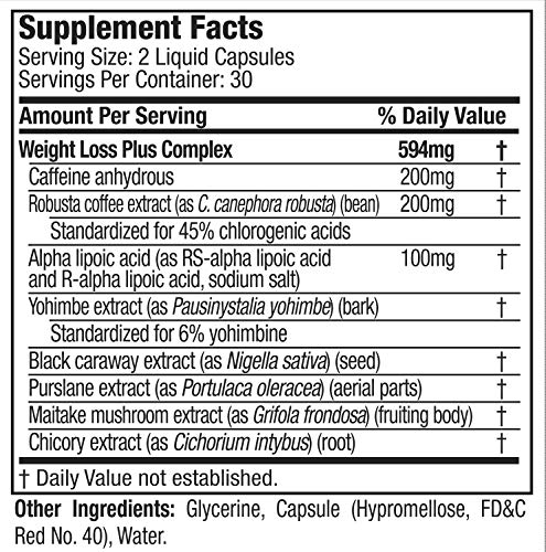 HydroxycutBlack, Weight Loss and Thermogenic Supplement for Men and Women, 60 Rapid-Release Liquid Capsules, Black 10