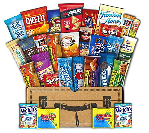 Mr. Snackbox Classic Crunch Case Care Package (30 Count)...