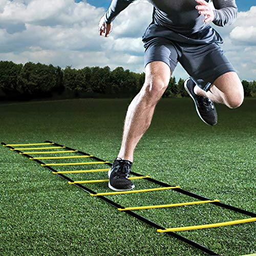 GHB Agility Ladder Speed Ladder 6M 12-Rung for Kids Adults Football Speed Training