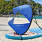 Arya Life 42 inches Downwind Wind Sail Kit Kayak Wind Sail Kayak Paddle Board Accessories, Easy Setup & Deploys Quickly, Compact & Portable, Royal Blue
