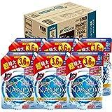【ケース販売 大容量】トップ スーパーナノックス 蛍光剤無配合 洗濯洗剤 液体 詰め替え 超特大1300g×6個セット