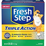 FRESH STEP CAT LITTER 261213 Fresh Step Triple Action Scooping Litter, 25 -Pound