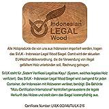 DIVERO 4er-Set Klappstuhl Teakstuhl Gartenstuhl Teak Holz Stuhl mit Armlehne für Terrasse Balkon - 5
