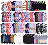 20 Pairs - Women's Socks - Ankle Cut, Low Cut, No Show, Footie, Casual Girls in 60 Colorful Patterns (Size 6-8)