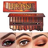 VERONNI Molten Rock Heat 12 colors Shimmer Matte Eyeshadow Palette,Warm Eye shadow Glitter Eyes Makup Cosmetic