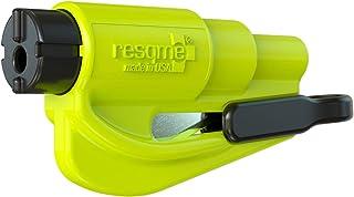 Resqme The Original Emergency Keychain Car Escape Tool, 2-in-1 Seatbelt Cutter and Window..