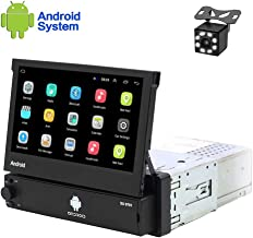 Hikity Android Single Din Car Stereo 7 Inch Flip Out Touch Screen Radio Supports FM..