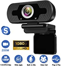 Webcam with Microphone for Desktop,1080P HD USB Live Streaming Laptop Computer PC Webcam..