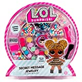 L.O.L. Surprise! Secret Message Jewelry by Horizon Group Usa, DIY Jewelry Making Craft Kit, Includes 400+ Beads & Charms, Sticker Sheets, Secret Decoder & More. Multicolored