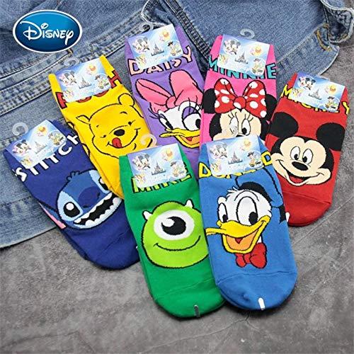 10 Paia Baby Mickey Mouse/Winnie The Pooh/Shi Dizi Printed Cotton SocksBaby Cute Thin Socks