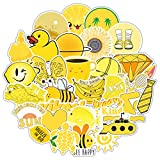 Amarillo pequeño fresco maleta maleta maleta maleta maleta maleta portátil graffiti pegatinas serie dibujos animados impermeable pegatinas 50pcs