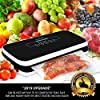 NutriChef Vacuum Sealer | Automatic Vacuum Air Sealing System For Food Preservation w/ Starter Kit | Compact Design | Lab Tested | Dry & Moist Food Modes | Led Indicator Lights (Black) #3