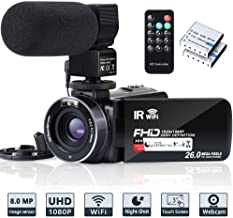 Video Camera Camcorder WiFi IR Night Vision FHD 1080P 30FPS YouTube Vlogging Camera..