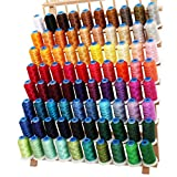 80 Cone Rayon Embroidery Thread Set - Includes Black and White - 1000m Cones - 40wt - Threadart