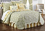 Waverly Paisley Verveine Reversible Quilt Collection, Full/Queen, Spring