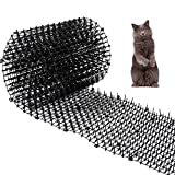 Cat Scat Mat with Spikes Prickle Strips Anti-Cats Network Digging Stopper Pest Repellent Spike Deterrent Mat, 78'x11'