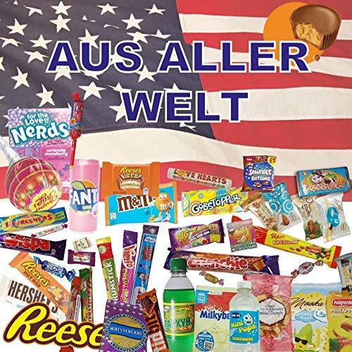QueenBox® Süssigkeiten aus aller Welt Großpackungen | 25 x Süßigkeiten Mix | USA Box | Asia, Russia, Arabic Schokolade | Party Box | Snackbox | Candy Mix asiatische snacks