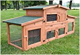 Zooprimus Cage Clapier lapin Extérieur en bois de pin Haute Qualité pour...