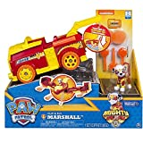 PAW PATROL Mighty Pups Flip & Fly Marshall, Colore Rosso, 6055192