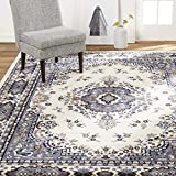Home Dynamix Premium Sakarya Traditional Medallion Border Area Rug, Porcelain, 5'2'x7'4' Rectangle