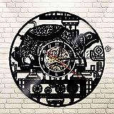 UIOLK Reloj de Pared de Tortuga de Vapor mecánico Vintage Reloj de Pared de Disco de Vinilo de decoración de Engranaje de Tortuga Animal Marino