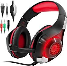 GM-1 Gaming Headset Compatible New PS4 PC Tablet Cellphone, Stereo LED Backlit Headphone..