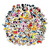 WOCAO Disney Cartoon Anime Mickey Mouse Waterproof Sticker Children's Graffiti Laptop Skateboard Luggage Bicycle Children De 50Pcs