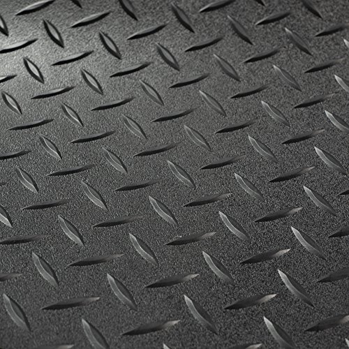 RV Trailer Diamond Plate Pattern Flooring | Black | 8' 6' Wide |...