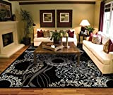 Modern Black Area Rugs for Living Room Area Rugs 5x7 Under 50