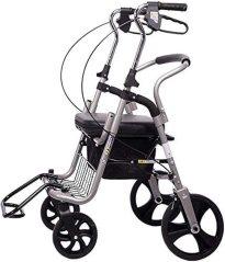 Andador-silla de ruedas DH-2 con ruedas traseras grandes.