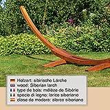 Ampel 24 XL Outdoor Hängemattengestell 400 cm Holz sibirische Lärche wetterfest Gestell Madagaskar braun - 2