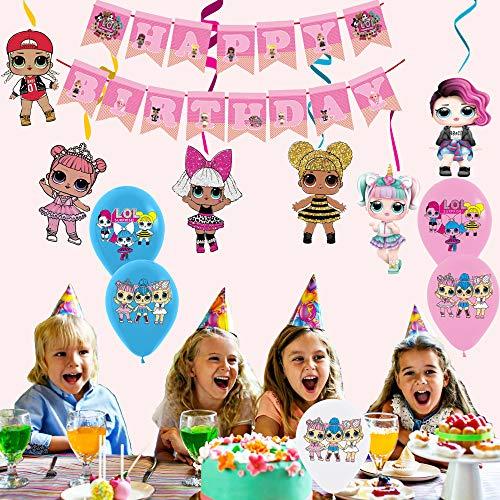 Image 5 - smileh Lol Anniversaire Décoration Lol Ballon Bannière de Joyeux Anniversaire de Lol Tourbillons Suspendus de Lol Surprise Dolls pour Fête d'anniversaire ou Fête d'anniversaire