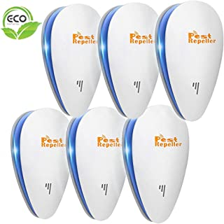 Ultrasonic Pest Repeller, 6 Packs, 2020 Upgraded Electronic Indoor Plug in for Insects,..