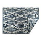 DII CAMZ10423 Indoor Flatweave Cotton Handloomed Yarn Dyed Woven Reversible Area Rug for Bedroom, Living Room, Kitchen, 4x6', Diamond Navy Blue