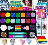 Face Paint Kit for Kids - Jumbo Stencils, 17 Large Paints, Rainbow...