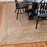 Unique Loom Braided Jute Collection Hand Woven Natural Fibers Natural/Tan Square Rug (8' 0 x 8' 0)