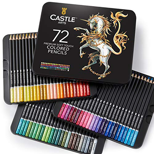 Scatola da 72 matite colorate Castle Art Supplies per libri da colorare per adulti o per il...