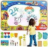Jouets Enfants, Tapis Aqua Doodle 100*70cm Tapis de Dessins Eau Peinture Aquadoodle 24 PCs Set (5...