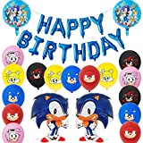Sonic Foil Globos, Sonic The Hedgehog Party Supplies Juego de Decoración Sonic Erizo Frustrar Globo...