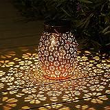 Lanterne Solaire Exterieur, Othran Marocaine LED Lampe Lanterne Exterieur De Jardin Suspendues, IP44 étanche, Lampe Solaire Extérieur Lanterne Décorative à...