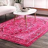 nuLOOM Reiko Vintage Persian Area Rug, 5' x 8', Pink