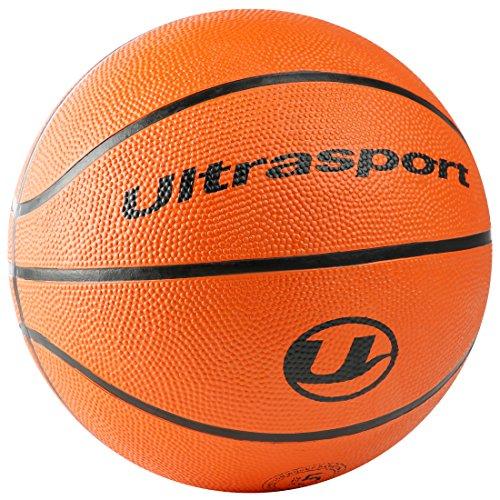 Ultrasport Palla da Basket, Misura 5 con Circonferenza di 70 cm, Ottima per bambini, Morbida con Superficie Antiscivolo, Basket Indoor e Outdoor, Arancione