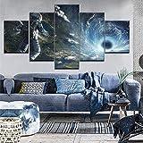Haojie Mural en la Lona y Cinco Piezas-Cuatro tamaños de Pared Arte Pintura-impresión de fotografías-decoración del hogar-Aviador Espacial,A,S
