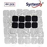 Syrtenty TENS Unit Electrodes Pads 2x2 Replacement Pads Electrode Patches for Electrotherapy (2' Square - 44 Pack)