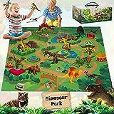 Fivejoy Dinosaure Jouet, 11pcs Gros Dinosaure Figurine avec Tapis De Jeu Et...