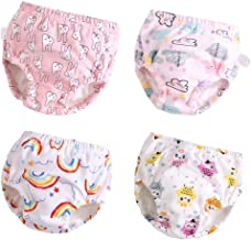 Toddler Potty Training Pants 4 Pack,Cotton Training Underwear Size 2T,3T,4T,Waterproof..