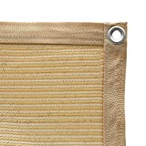 Shatex 90% Shade Fabric Sun Shade Cloth with Grommets for Pergola Cover Canopy 8' x 12', Wheat, 12 Bungee Balls