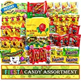 Sweet Tooth Fiesta Mexican Candy Assortment, Dulces Mexicanos Mix with Variety of Spicy & Sweet Candies, Delicious Mexican Snacks from Premium Brands like De La Rosa, Lucas, Dulces Vero (75 Pieces)