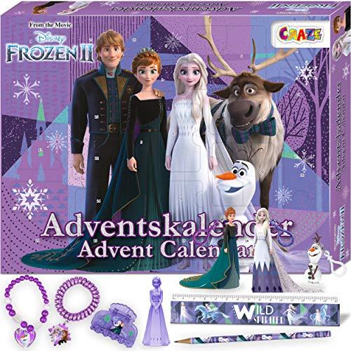 CRAZE 24652 Premium Advent Calendario dell'Avvento 2020 Frozen II sorprese e Giochi a Tema con la Regina delle Nevi e I Suoi Amici, Colore Colorful